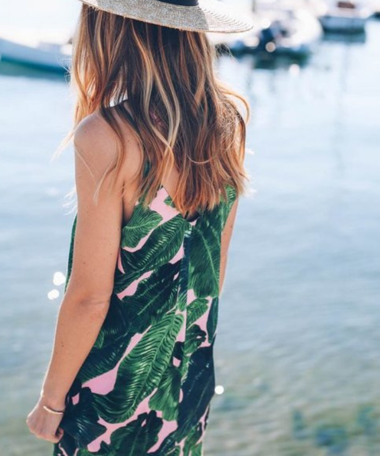 Palm Print is a Hot Trend in Womens' Fashion for 2019